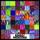 550 Paracord Rope Mil Spec Type III 60 More Colors  Patterns 25 50 100 ft
