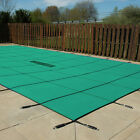 18x36 Inground Rectangle Swimming Pool Winter Safety Cover Green Solid 12 Year