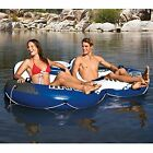 Double Inflatable River Raft Tube Float Water Lounge Cooler Cup Holder Pool Lake