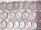Lot of 20 Walking Liberty Silver Half Dollars 1941 to 1945 10 Face Value
