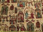 Navidad Christmas Mexican Nativity Fabric Baby Jesus gold Religious A Henry OOP