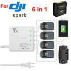6 in 1 Battery Charger Charging Hub For DJI Spark Drone Battery  Controller