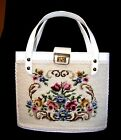 Faye Mell Design- Roses needle point -Vintage Handbag-Miami, FL-White-16