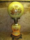 Accurate Casting Co Mid Century Double Globe 3 way Parlour Lamp Floral Design