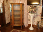 Antique Tiger Oak Bowed Front China Cabinet  1800-1899