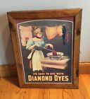 Diamond Dyes Country Store Cabinet w / Tin Lithograph 25