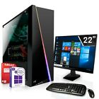 Win 10 Komplett PC Set GT 730 2GB 1 TB 8 GB AMD A8 7600 4x3,8 GHz mit Monitor TF