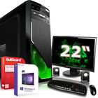 Win 10 Komplett PC Set GT 720 2GB 1 TB 8 GB AMD A8 7600 4x3,8 GHz mit Monitor TF
