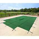 18x36 Rectangle Swimming Pool Winter Safety Cover Solid Green 12 YR w 4x8 Step