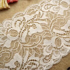 15 Yards Soft Embroidered White Ivory Floral Stretch Picot Edge Lace 6 1/2