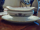 NORITAKE DAVENTRY GRAVY BOAT WITH ATTACHED UNDERPLATE