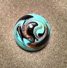 Handmade Gold Stone Marble - Teal Green & Black Swirl - Limited Production !
