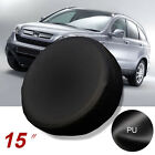 New 15 Inch Spare Tire Cover Wheel Protector Covers For All Car Black
