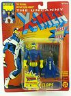 Vintage  Marvel CYCLOPS The Uncanny XMEN  Carded MOC 90s Toybiz Original Blue