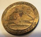 1950 NY port authority bus terminal Robbins bronze dedication medal
