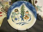 Tabletops Unlimited Dinner Plate WINTERLAND CHRISTMAS 10.5
