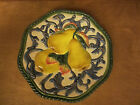 Plate Wall Plaque Pear Design Fitz And Floyd Classics Florentine Fruit 9