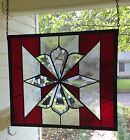 Large Stained Glass Window Suncatcher with Bevels 14 1 2 Tall x 16 1 2 Wide