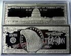 DISCOUNTED 20 TRILLION PROOF 4oz SILVER CURRENCY BAR IN HARD CASE + COA GRADE B