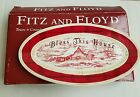 Fitz & Floyd Town & Country BLESS THIS HOUSE Snack Tray Server Plate w/ box