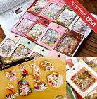 Lot 64 Japan Booklatte Retro realistic Cats Animal sticker flakes Cute stamp NEW