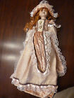 NEW KNIGHTSBRIDGE COLLECTION TALL 25 VICTORIAN HANDPAINTED PORCELAIN DOLL