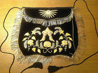 Rare Independent Order of Odd Fellows IOOF Embroidered Handpainted Velvet Apron