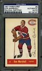 1957-58 1957 PARKHURST HOCKEY #8 DON MARSHALL PSA DNA AUTOGRAPHED SIGNED