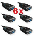 LOT OF 6 Eclipse SEE2 UV150 USB to VGA External Video Card by Mad Catz PC