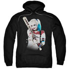 Suicide Squad Harely Quinn Baseball Bat At You Black Adult Pull-Over Hoodie