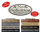 No Soliciting Sign NO SOLICITING etc Home Business Door Sign FREE SHIPPING