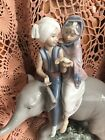 Lladro 5352 Hindu Children  Boy's Fingers broke Off!  No Box! L@@K! Great Gift!