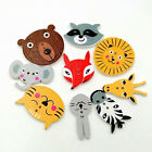 50Pcs Mixed Animal Scrapbooking Decor Sewing 2 Holes Wooden Buttons Charm