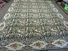 9' X 12' Hand Made French Aubusson Savonnerie Needlepoint Wool Rug Floral Beauty