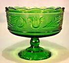 E.O. Brody Emerald Green pedestal vase/candy dish/compote 1958-1970 out of busin