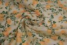 12 Yds Orange Rose Floral Print Quilt Fabric Craft Apparel Upholstery 45 9444Y