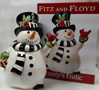2010 FITZ and FLOYD Frosty's Frolic snowman cookie jar NEW IN BOX