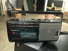 Sony Boombox Player CFM-140 FM/AM 2 Bands Radio Cassette Portable 1987 VTG