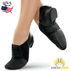 Cowhide Leather Jazz dance shoes Slip On Irish Dance Shoes ballet dance