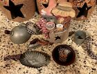 Primitive Mini Kitchen Tree Ornaments Wreath Ornies Gathering Tuck Country Home