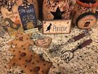 Primitive Country Kitchen Mini Tree ORNAMENTS Hearts Stars Crow Welcome Tags