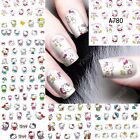 12 Sheets Hello Kitty Water Transfer Nail Art Stickers Decals Decoration A780