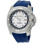 Tommy Hilfiger White Dial Blue Silicone Strap Men's 1791113