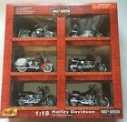 harley davidson 118 Maisto Die Cast 6 Piece Collection From 2002