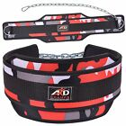 ARD CHAMPS Neoprene Weight Lifting Dipping Belt Exercise Belt Fitness Red Camo