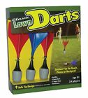 New Kids Classic Lawn Darts Game Includes 4 Darts and 2 Rings, Outdoor Yard Fun