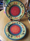 Tabletops Gallery LA PROVINCE Handpainted (2) Dinner Plates 11 3/8