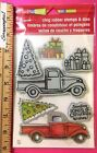 Stampendous Cling Stamps Matching DIES TRUCK TIDINGS Presents Christmas Tree Set