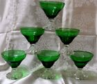 Mid Century Modern Forest Green Stemmed Glass Inspiration Burple Sherbet - Ancho