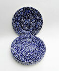 """Set of 6 Queen's Calico Blue 7"""" Side Plates"""